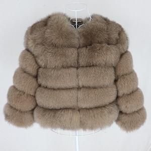 Image 2 - OFTBUY 2020 Winter Jacket Women Real Fur Coat Natural Big Fluffy Fox Fur Outerwear Streetwear Thick Warm Three Quarter Sleeve