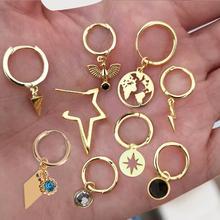 Маленькие серьги-кольца для женщин золотые серьги-кольца мини silve обод кольцо крошечные серьги-кольца женские аксессуары подарок