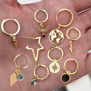 gold hoop earrings small hoops huggie earrings butterfly star earrings heart korean trendy fashion circle gift for women(China)