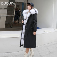 2019 Winter New Female Party to Overcome the Thick Coat in the Long Coat Fox Fur Collar Rabbit Liner to Overcome the Fur Coat кроссовки overcome hsl 16653
