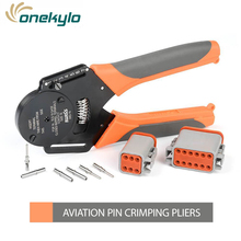 цена на IWD-16 Solid Barrel pins plug spring terminal Cable Crimper 18/16/14 AWG Aviation Hand Tools Crimping Plier