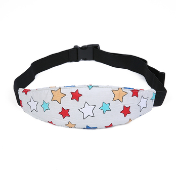 Infants Pad Head Belt Support Soft Cushion Car Seat Baby Protection Safety Strap Car Accessories With Cover Sleep Head Support image