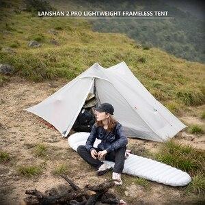 Image 5 - 3F UL Gear Lanshan 2 Pro beztłokowy namiot 20D silikonowy ultralekki wodoodporny 3 sezon 2 osoby namioty na zewnątrz Camping piesze wycieczki