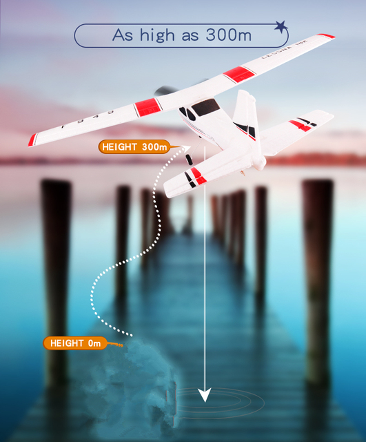 WLtoys F949 2.4G 3Ch RC Airplane Fixed Wing Plane Outdoor toys Drone RTF Upgrade version Digital servo propeller, with Gyroscope 4