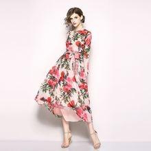 Fashion Summer Women Bohemian Dress Floral Print Holiday Beach Dress