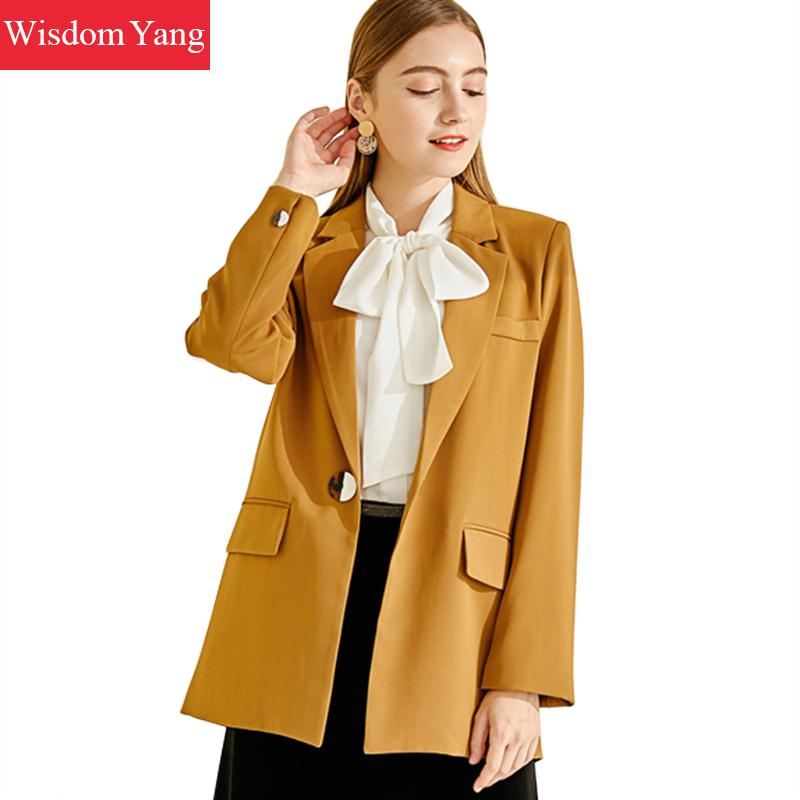 Spring Autumn Suit Jackets Womens Coffee Female Coats Slim Elegant Business Suits Coats Jackets Office Ladies Outerwear Overcoat