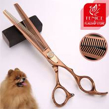Fenice 7.0 inch Double-Sided Teeth Thinning Scissors Professional Dog Pet Grooming Scissors Animals Haircut Thinning 20-30%