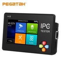 Câmera ip tester3.5 polegada ips tela h.265 4 k ip cctv monitor de teste analógico tester câmera ip sistema de câmera de segurança
