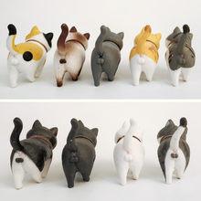 Boneco de gatos em pvc, boneco de animais em minipvc, figuras de gatos, brinquedo, artesanato criativo, decoração de casa, artesanato, 1 peça
