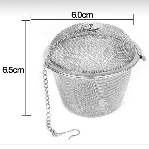 45/55/65mm Stainless Steel Mesh Tea Infuser Tea Strainer Teapot Reusable Tea Leaf Spice Filter Drinkware Kitchen Accessories