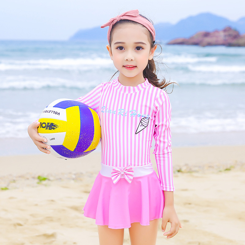 KID'S Swimwear GIRL'S Dress-GIRL'S Swimsuit Female Baby South Korea Big Boy Princess Hot Springs Tour Bathing Suit