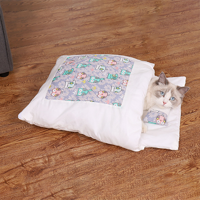 Removable Dog Cat Bed Cat Sleeping Bag Sofas Mat Winter Warm Cat House Small Pet Bed Puppy Kennel Nest Cushion Pet Products 4