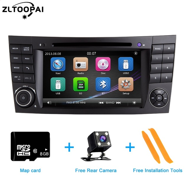 ZLTOOPAI سيارة مشغل وسائط متعددة السيارات مشغل ديفيدي لمرسيدس بنز E Class W211 E300 CLK W209 CLS W219 راديو تلقائي لتحديد المواقع ستيريو 2 الدين