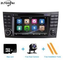 ZLTOOPAI samochodowy odtwarzacz multimedialny Auto odtwarzacz DVD dla Mercedes Benz e klasa W211 E300 CLK W209 CLS W219 Radio samochodowe GPS Stereo 2 Din
