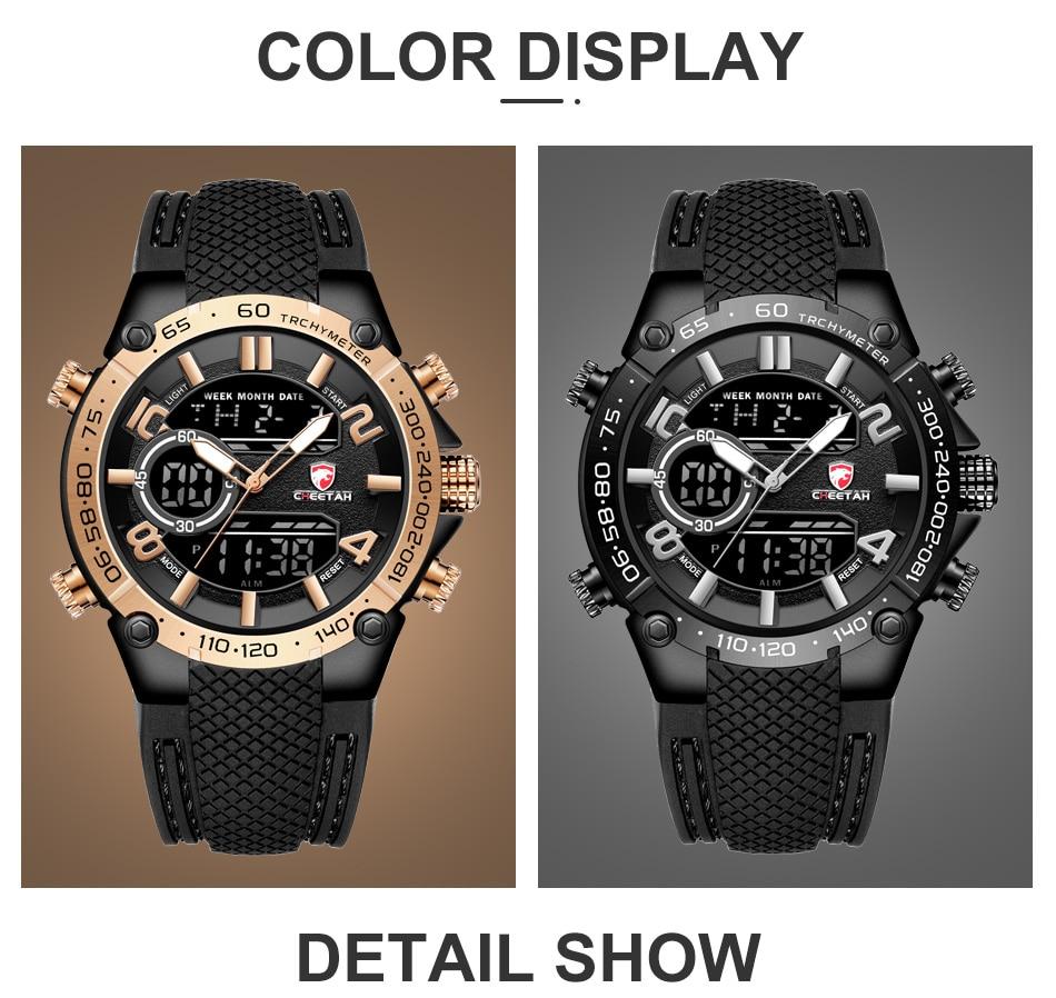 H671b1df7143a441e84148380b82ebe467 Top Luxury Brand CHEETAH Men Watch Fashion Sports Wristwatch Digital Quartz Analog Clock Waterproof Watch Men Relogio Masculino