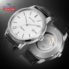 Reloj Seagull de la marca de lujo reloj mecánico de los hombres correa de reloj de cuero de 50m resistente al agua reloj mecánico D819.638