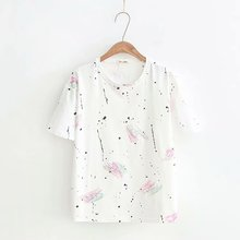 T Shirt Women 2018 Summer Printed Short Sleeve T-shirt Female Plus Size Tshirt Tops