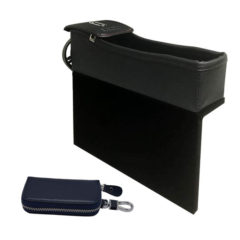 Car Seat Storage Box  More Space Multifunction Leather Car Safety Seat Storage Box  Coin and Cup Holder and Key Bag|Stowing Tidying| |  - title=