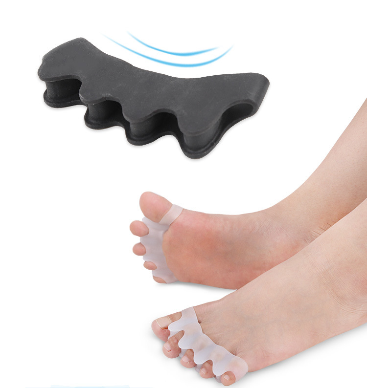 2Pcs/set Corrector Toe Protector Silicone Toe Separating Gel Toe Separator Flexible Finger Spacer Preventing Blisters Nail Tool