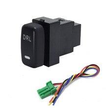 1PC LED DRL Batterie netzteil Lenkung Sheel fan Schalter Taste Für Mitsubishi Pajero sport