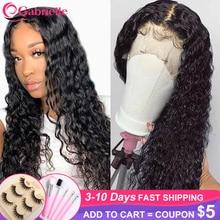 가브리엘 워터 웨이브 레이스 프런트 가발 흑인 여성을위한 브라질 인간의 머리 가발 pre-plucked 레이스 클로저 가발 레미 인간의 머리카락