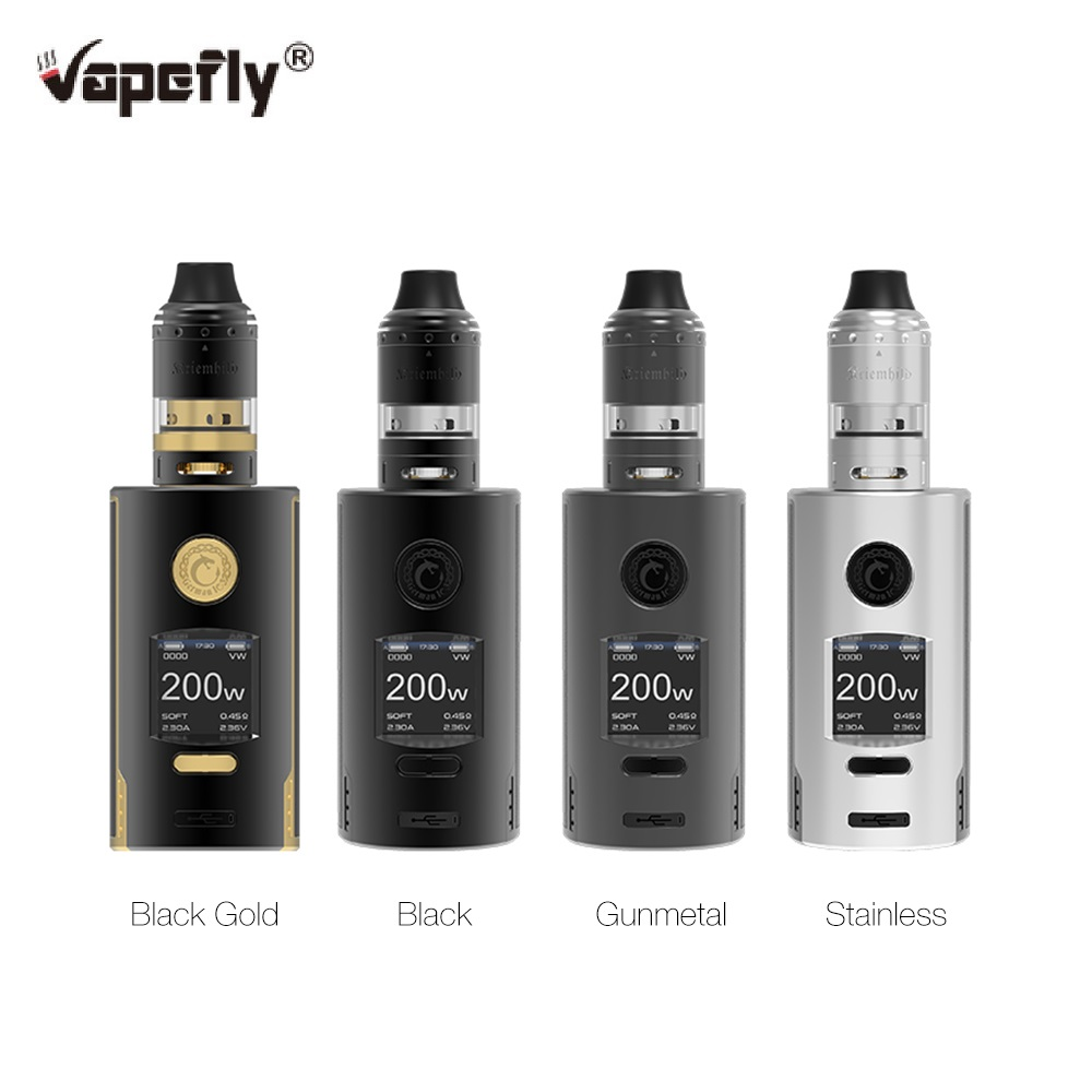 Original Vapefly Kriemhild 200W Starter Kit With 5ml  Kriemhild Tank Fit  18650/20700/21700 Battery Box Vape Kit Vs Gen / Drag 2