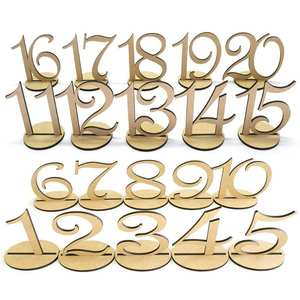 Seat-Cards-Ornaments Place-Holder Figure-Card Table Wedding-Number Wooden 10pcs Digital