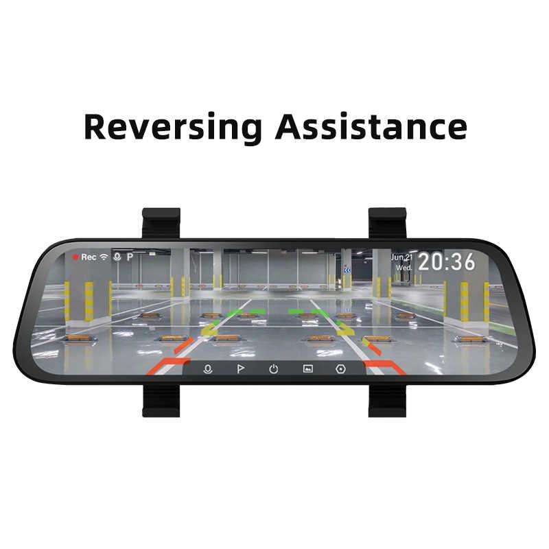 2020 yeni 9.35 inç tam ekran 70mai dikiz Dash kamera geniş 1080P otomatik kamera 130FOV 70mai aynası araba kaydedici akış medya araba dvr'ı