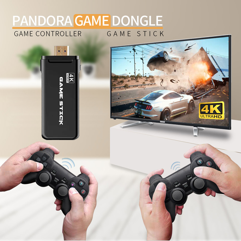 4K Ultra Video Game Console Dual GamePad for PS1/GBA Retro TV Game Console HDMI-Compatible 64GB 10000 Games Video Game Stick