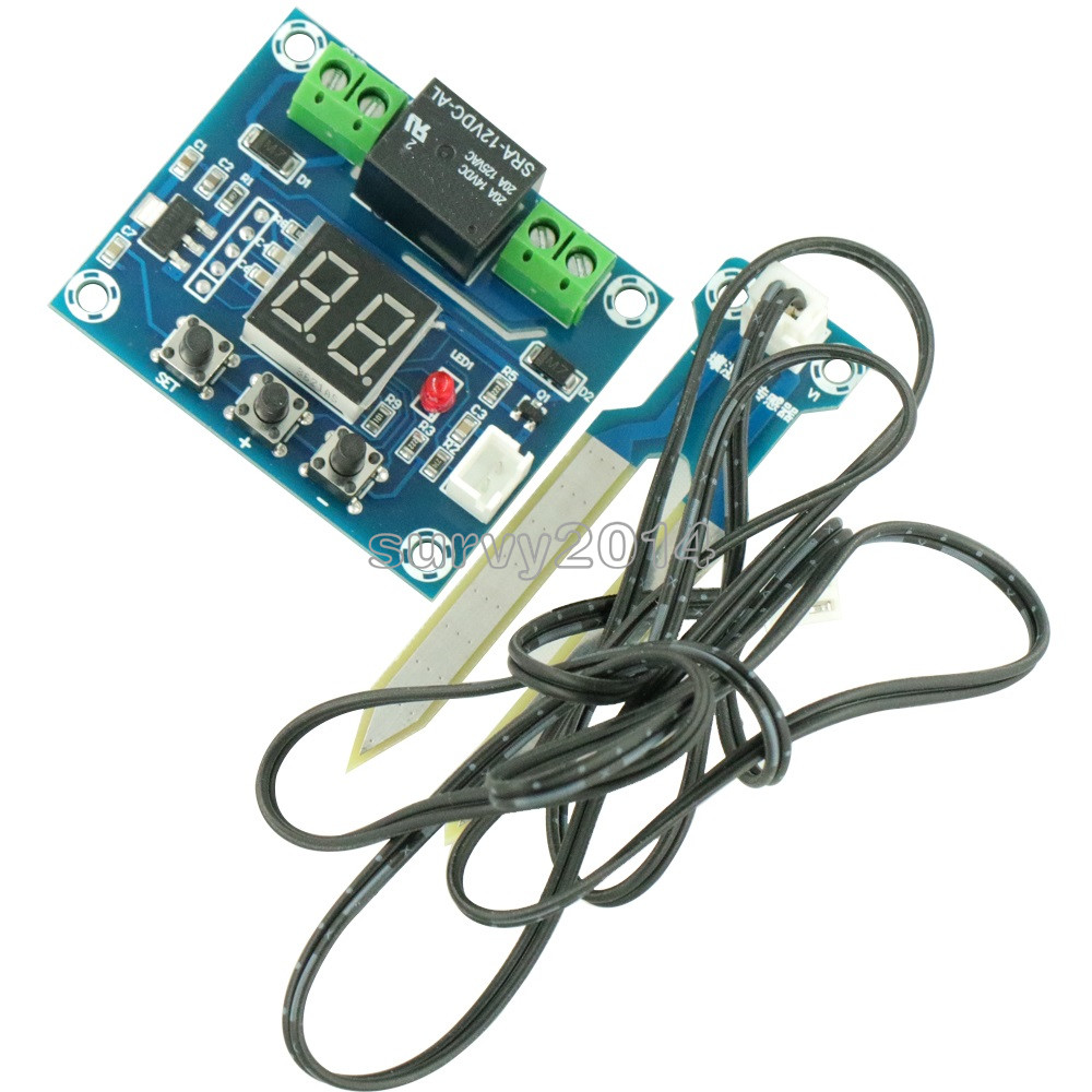 XH-M214 12V Soil Humidity Sensor Controller Irrigation System Automatic Watering Module Digital Display Humidity Controller Red