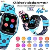 Y95 Smart Watch Phone GPS Waterproof Kids Smart Watch Child 4G Wifi Antil lost SIM Location Tracker Smartwatch HD Video Call