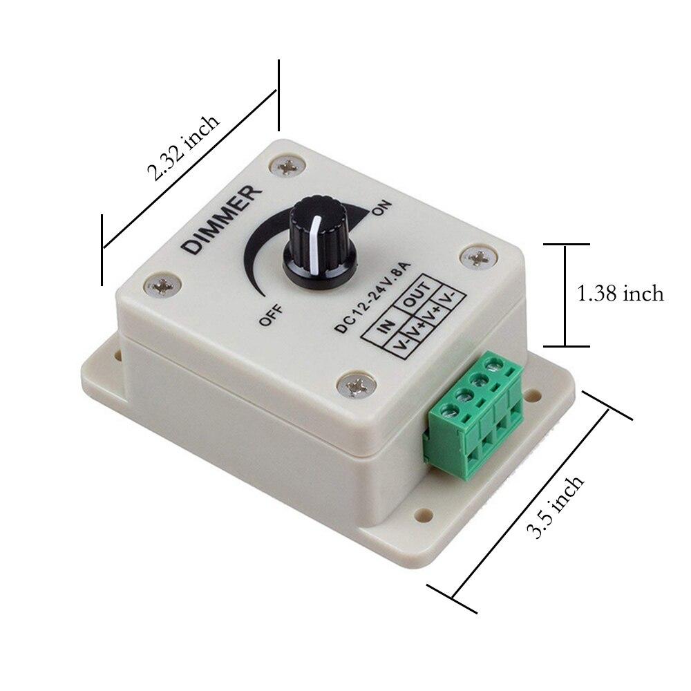 dimmer ajustável brilho controlador monocromático controlador de