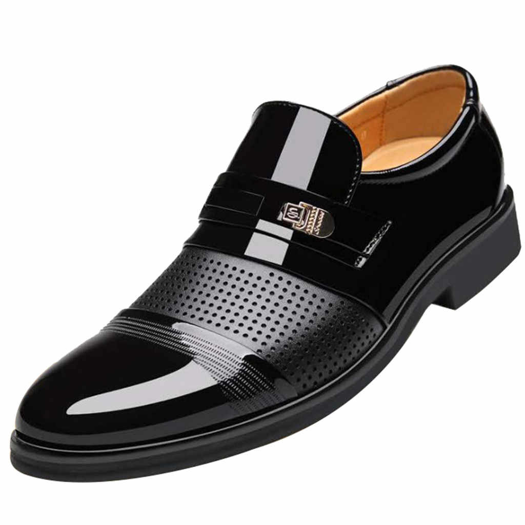 الأعمال الكلاسيكية الرجال اللباس الأحذية أزياء أنيقة الرسمي الزفاف أحذية الرجال الانزلاق على مكتب أكسفورد أحذية للرجال мужская обувь