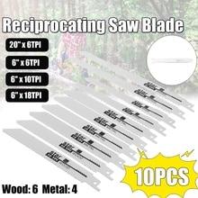 10pcs Reciprocating Saw Blades Power Tools Accessories For Makita Bosch Dewalts Metabo Wood Metal Cutting Disc Jigsaw Blade