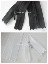 150cm invisible zipper 5pcs/lot #3 white color fabric sides suitable for bed&home textile sewing