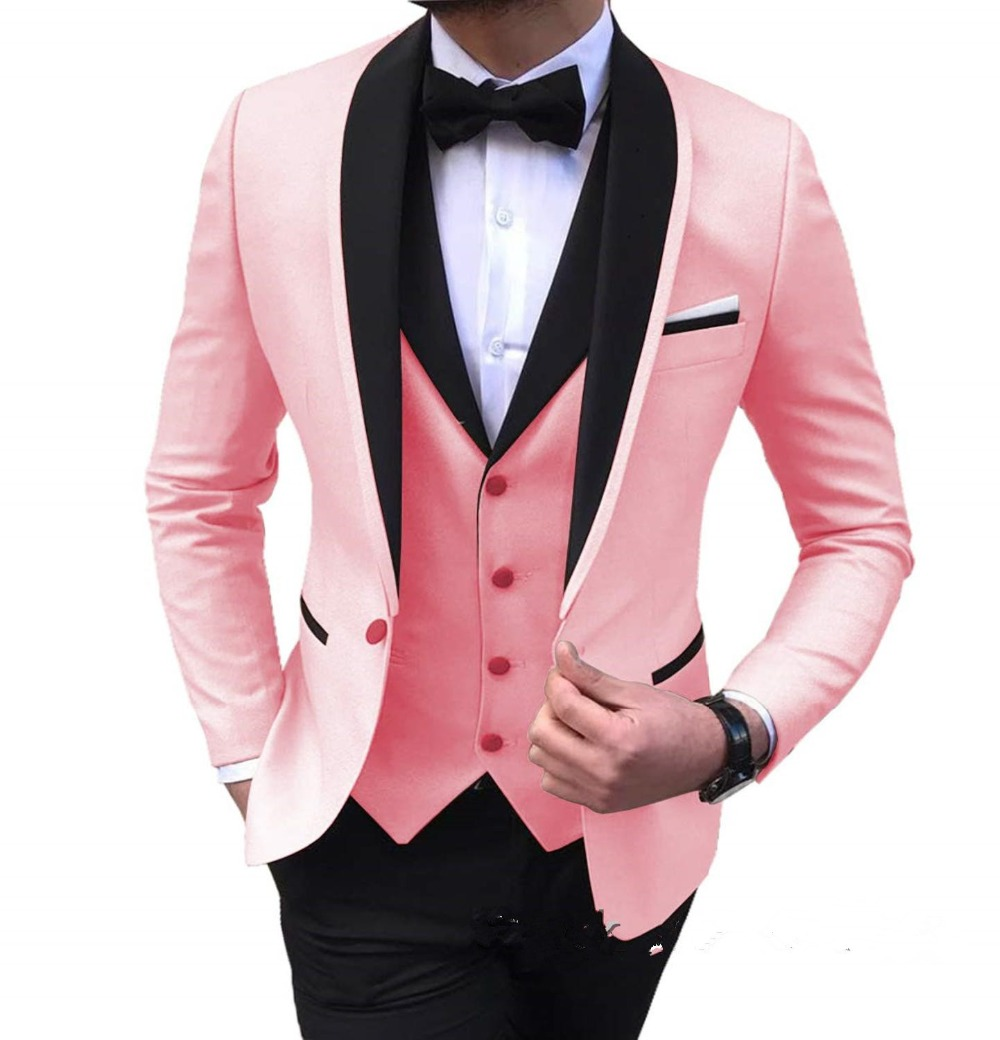 Wedding-Suits Costume Groom Fashion-Design Tuxedos-3piece for Man Homme Ternos Handsome