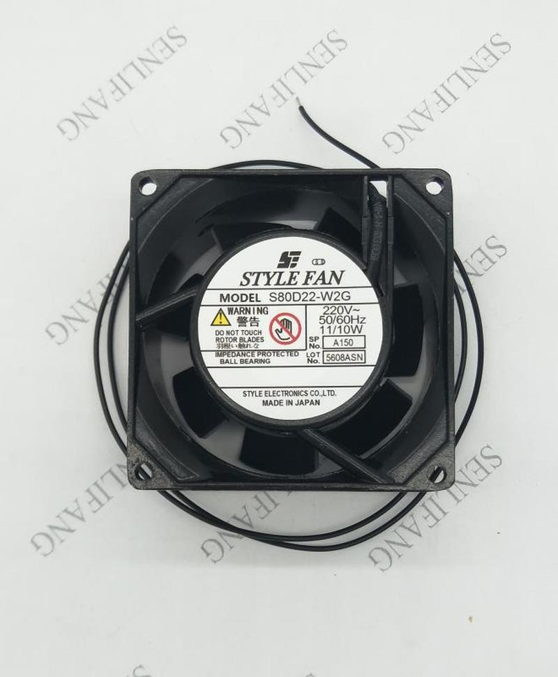 For STYLE FAN S80D22-W2G AC 200V 11W 80x80x25mm 2-Wire Server Square Fan Free Shipping