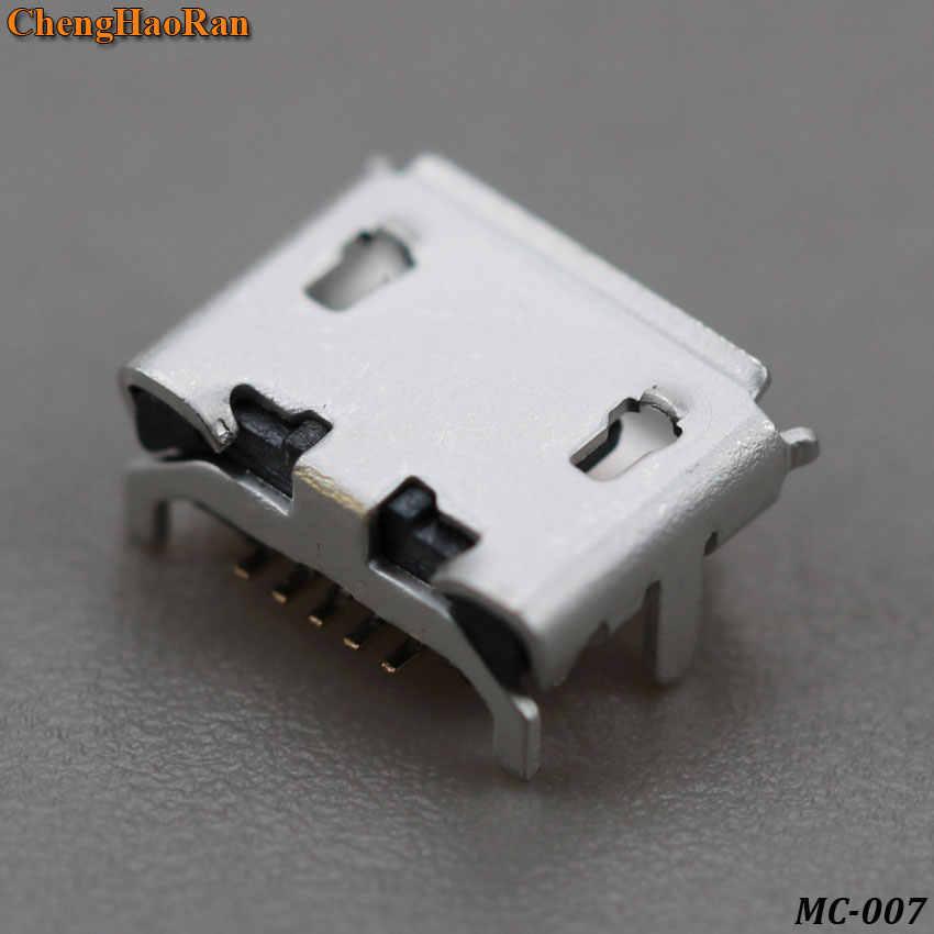 2 cái/lốc Micro 5P USB jack nối ổ 4 chân CHẤM Lớn Bò sừng 5 Đầu Micro USB cổng kết nối V8 Cổng Sạc Ổ Cắm