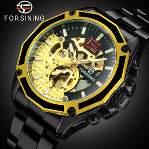 2020 новые модные мужские автоматические часы в стиле стимпанк, стальной ремешок для часов, мужские механические наручные часы, подарок бойфр...