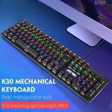 Механическая клавиатура k30 игровая с голубым переключателем