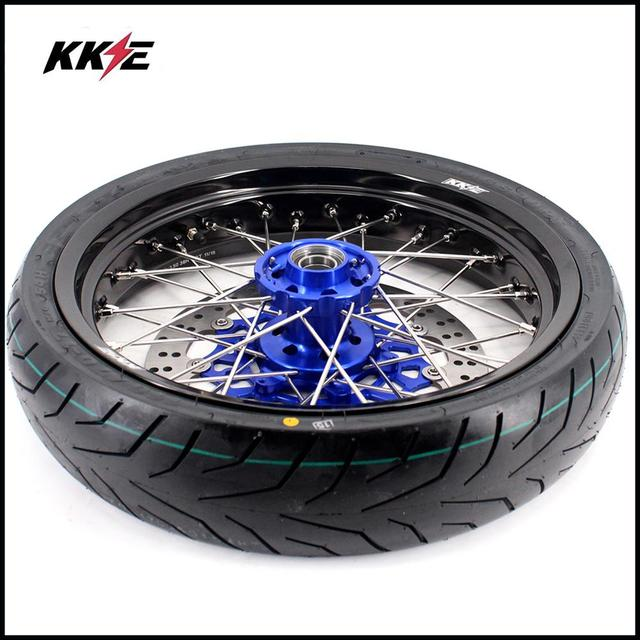 COMPLETE SUPERMOTO WHEELS & TIRES SET  3