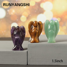1PC 1.5Inches Natural amethyst crystal Angel guardian angel healing gem family home decoration study room Crystal craft gift