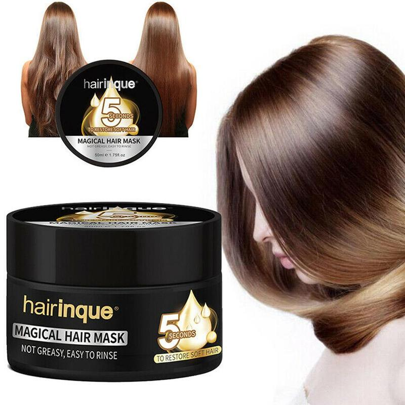 Hairinque Miracle Treatment Hair Mask Moisturizing Nourishing 5 Seconds Repairs Damage Hair Restore Soft Hair Care Mask 50ml