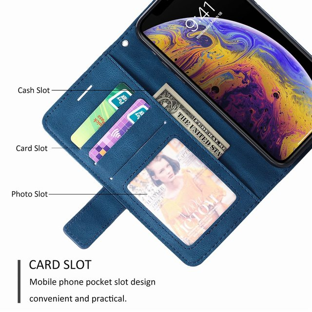 Stand Business Phone Holster For Etui Xiaomi 11 Poco X3 Nfc M3 Redmi Note 10 Pro 7 7A 8 8A 8T 9 Stripe Wallet Rhombus Case D21G 4