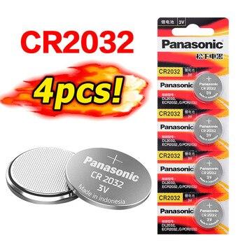 PANASONIC 4 Uds CR2032 monedas batería CR 2032 2032 Pilas botón para hombres mujeres relojes computadora placa base juguetes reloj de larga duración