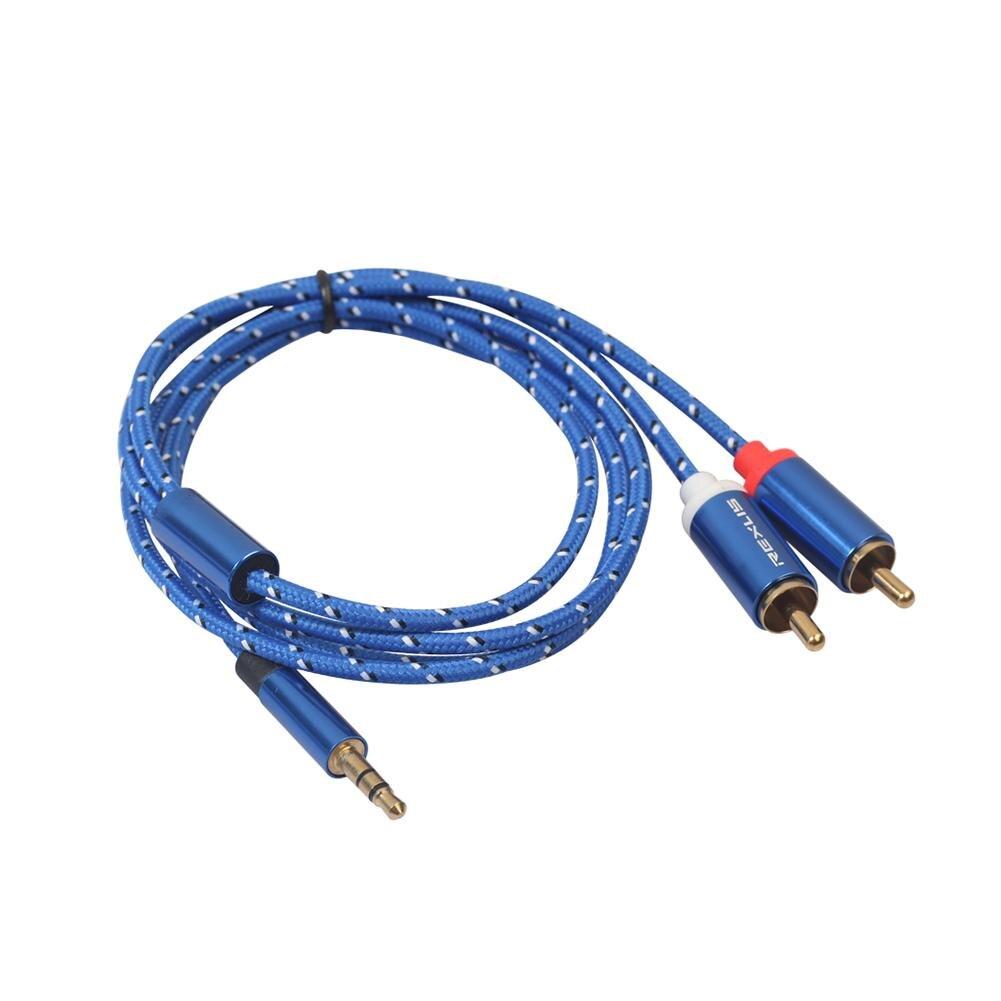 Audio Kabel 0.5/1/1.8/3/5/10m RCA Audio Kabel 2RCA Männlichen zu 3,5mm Jack zu 2 RCA AUX Kabel Baumwolle Geflochtene Splitter für Home MP3
