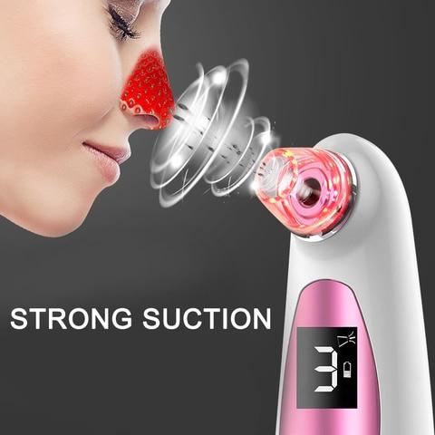 Acne el trica instrumento de limpeza beleza pele aperto a v cuo cravo removedor dispositivo