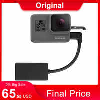 Оригинальный 3,5 мм Адаптер для GoPro Mic для HERO 8 HERO 7 HERO5 Black/HERO5 Session/ HERO6 BLACK AAMIC-001 Кабель-адаптер для микрофона