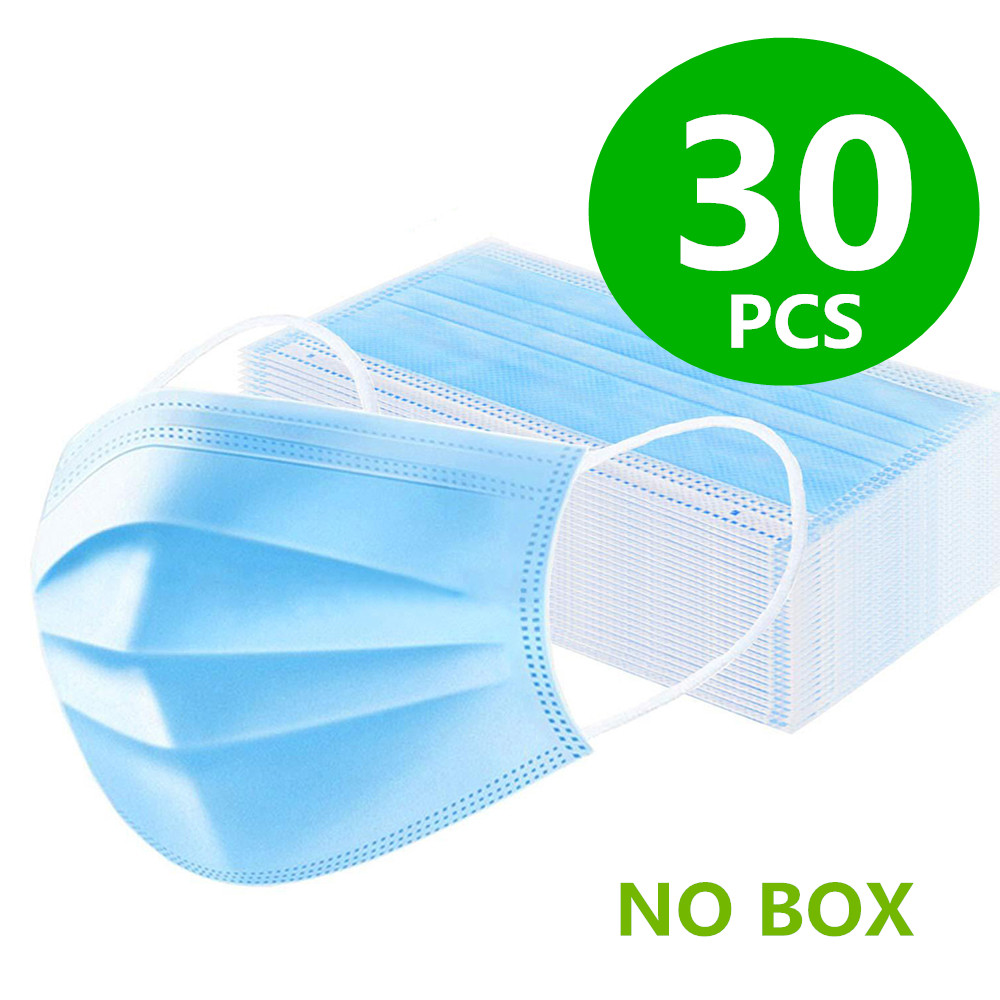 H671cd14f30a04f32876c6b00bec2fe6ct 100Pcs Medical Surgical Mask Face Mask Anti Dust Mouth Filter Anti Bacterial Disposable Mask 3-Layers Protective Baby Adult Mask