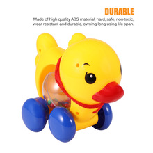 Car-Rattles-Toys for Kids Music-Handbell Pull-Rope Walking-Toy Duck-Animal Learn Baby